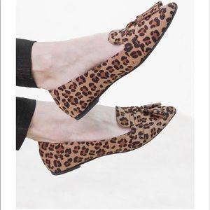 Leopard Print Tassel Flats